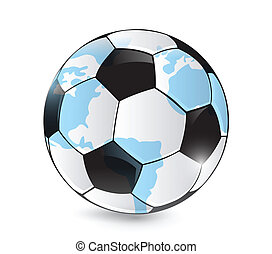 World map football ball on a white background vector eps vector soccer world map ball illustration design gumiabroncs Images