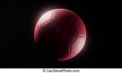 soccerball against a dark background