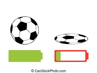 Soccerball and battery charge - Serviceable soccerball and...