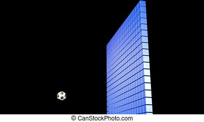 Soccerball Wall Zero Gravity Follo - Soccerball crashs into...