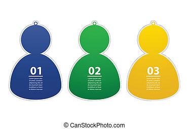 Soccer/Football team player stickers, Vector illustration, Eps10