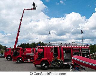 soccorso incendio, camion