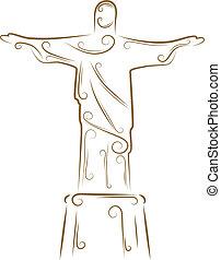socha, o, kristus vykupitel