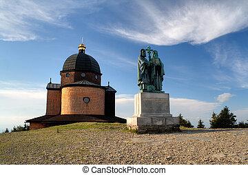 socha, republika, čech, radhost, methodius, cyril, hlava, st...