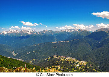 Sochi cableway in the mountains