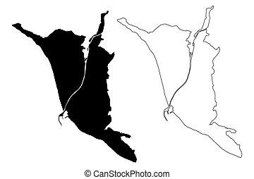 Sochi City (Russian Federation, Russia, Krasnodar Krai) map ...