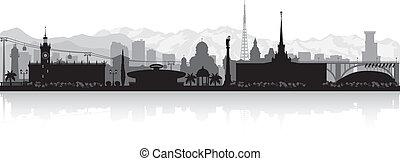 Sochi Russia city skyline vector silhouette - Sochi Russia...