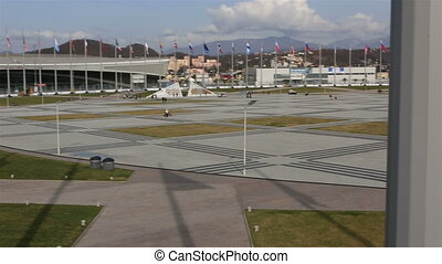 Panorama of Medal Plaza in Olympic Park - Sochi, Russia -...