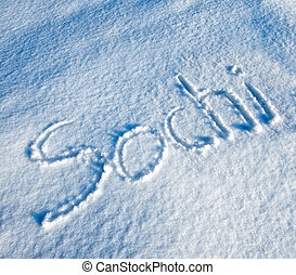 Sochi written in Snow