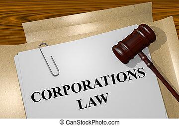 sociétés, concept, droit & loi