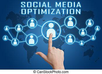 sociaal, media, optimization