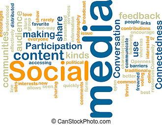 sociaal, media, wordcloud