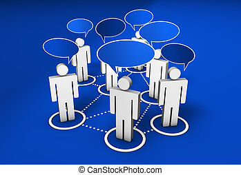 sociaal, netwerk, gemeenschap