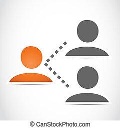 sociaal, netwerk, mensen