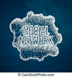 sociaal, netwerk, pictogram