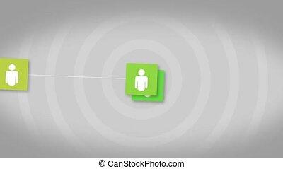sociaal, netwerk, verbinding, concept