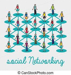 sociaal, networking