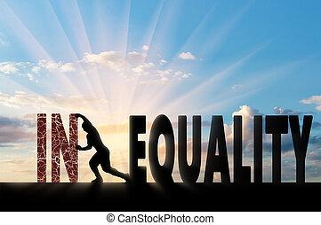 sociaal, ongelijkheid, concept