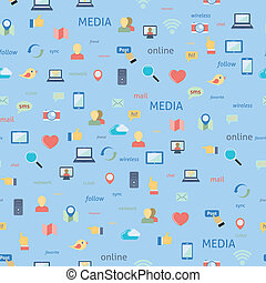 sociaal, seamless, netwerk