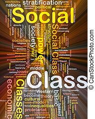 sociaal, stand, achtergrond, concept, gloeiend