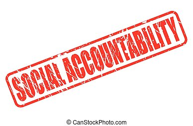 SOCIAL ACCOUNTABILITY red stamp text on white