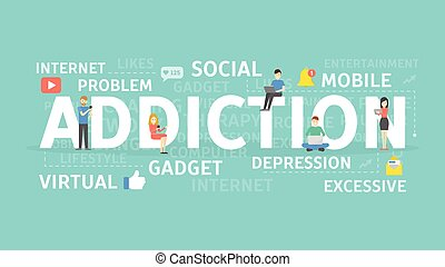 social, addiction., rede