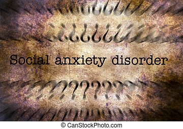 Social anxiety disorder grunge concept
