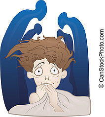 Social anxiety disorder, social phobia concept. Depressed...