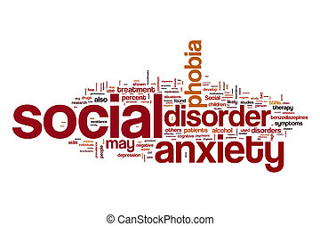 Social anxiety disorder word cloud concept