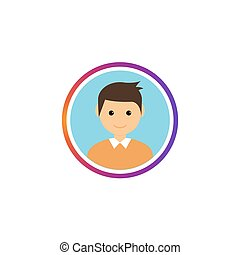 Social avatar stories gradient frame. Instastory user image ...