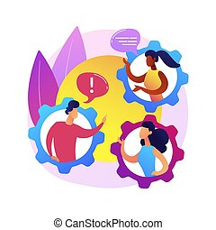 Social behaviour abstract concept vector illustration. Anti-social behaviour, youth abuse, gang fighting, riots, drinking alcohol, troubled teenager, bullying, domestic violence abstract metaphor.