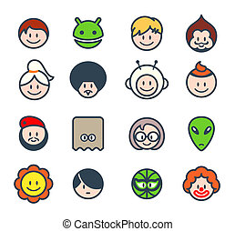 Social characters - Characters for social networks or forum...