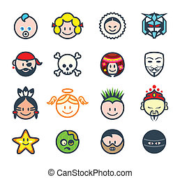 Social characters II - Characters for social networks or...