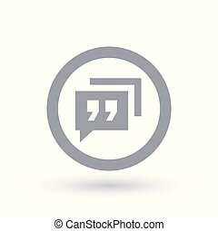 Social chat icon. App speech quote symbol.