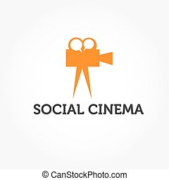 social cinema illustration