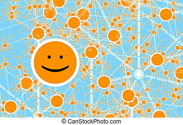 Social Circle Online Friend Network Abstract Art