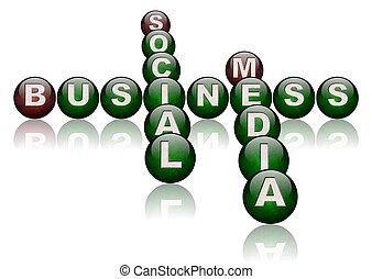 social, comércio mídia