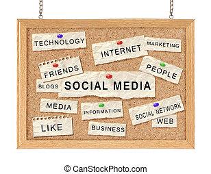 social, com, networking, conceito