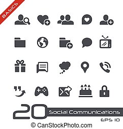 Social Communications // Basics - Vector icons for web,...