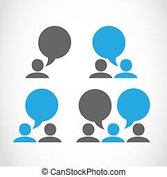 Social connection pictograms vector