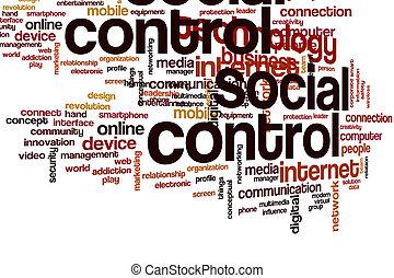 Social control word cloud