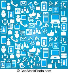 social design over blue background vector illustration
