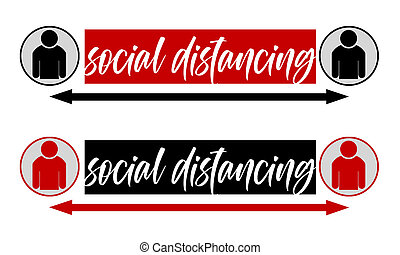 Social distancing concept to stop virus