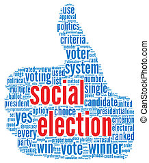 Social election concept