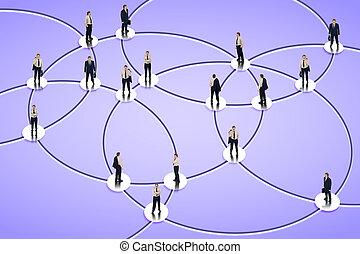 social, establecimiento de una red