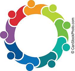 Social friends 9 image logo