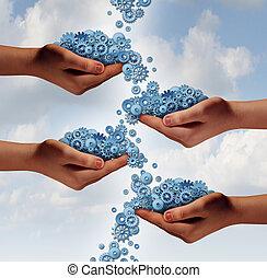 social, gestion réseau, concept