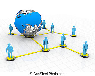 social, global, pessoas, networking.