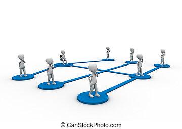 social, hommes, réseau, communauté, équipe