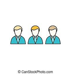 social, icono, empleados